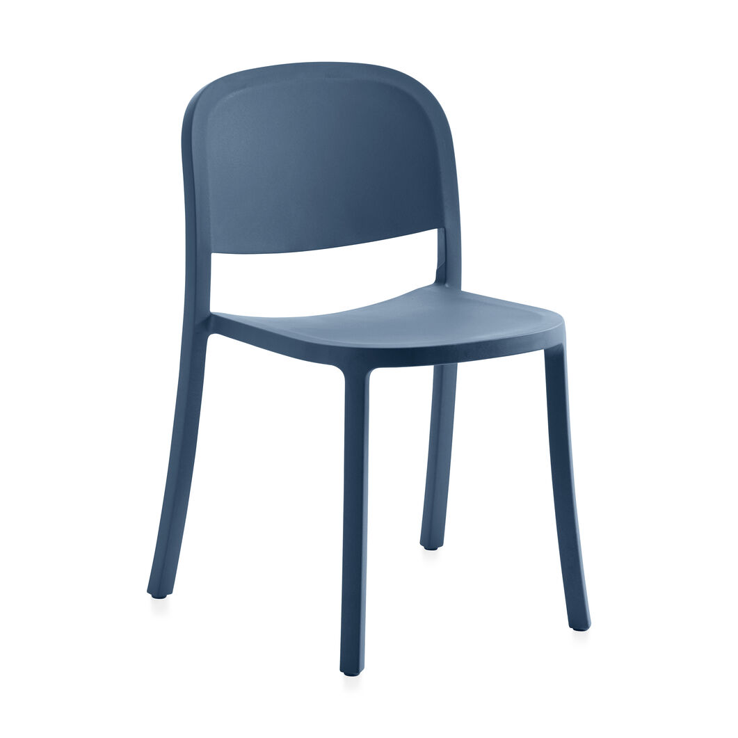 Emeco 1 Inch Reclaimed Stacking Chair in color Blue