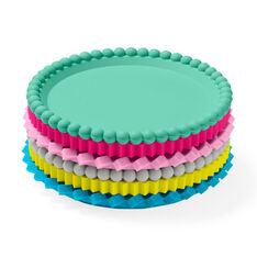 Geo Stacking Coasters - Pastels in color