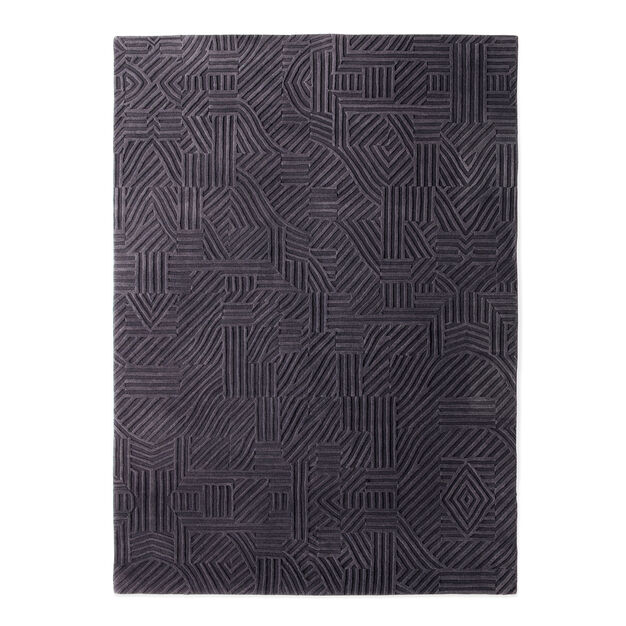 Nanimarquina African Pattern Rug Dark Gray in color Dark Gray