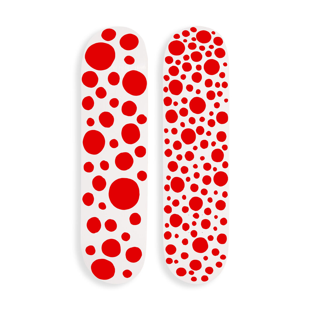 Yayoi Kusama Red Dots Skateboards in color