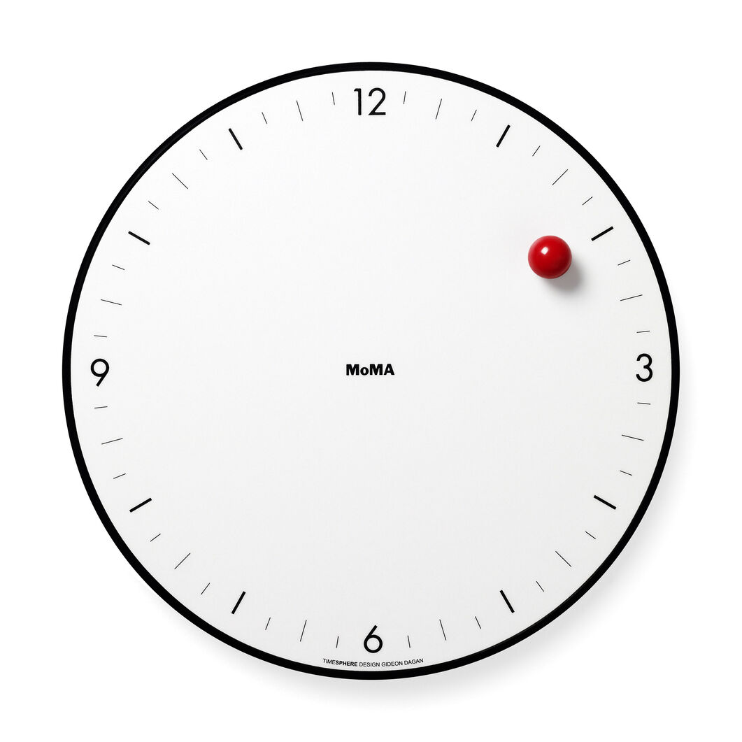 Timesphere Clock in color White