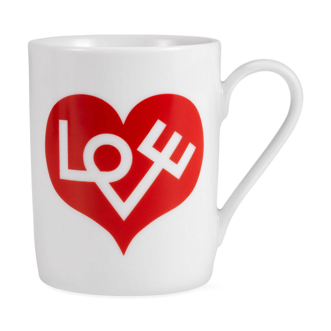 Alexander Girard Love Coffee Mug Red in color Red