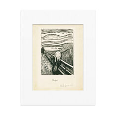 Munch: The Scream Matted Print in color