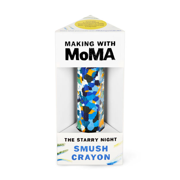 Making with MoMA Smush Crayon in color Multi Van Gogh