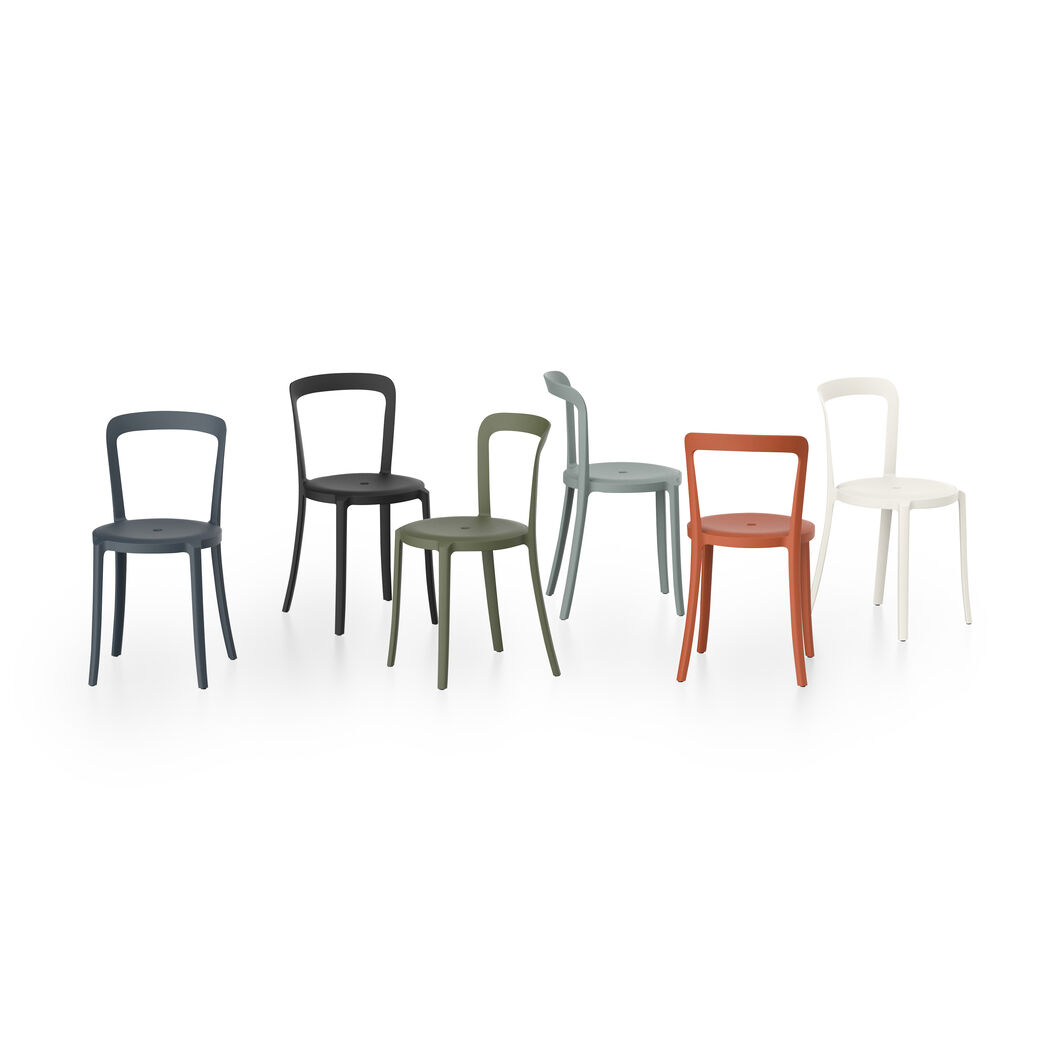 Emeco On & On Recycled Stackable Chair in color Lava Black