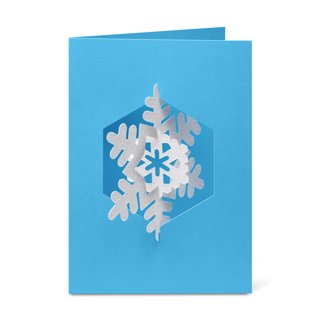Spinning Snowflake Holiday Cards (Box of 8) in color