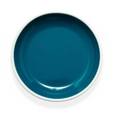 Bloom Enamel Dinner Plate in color Ocean Blue