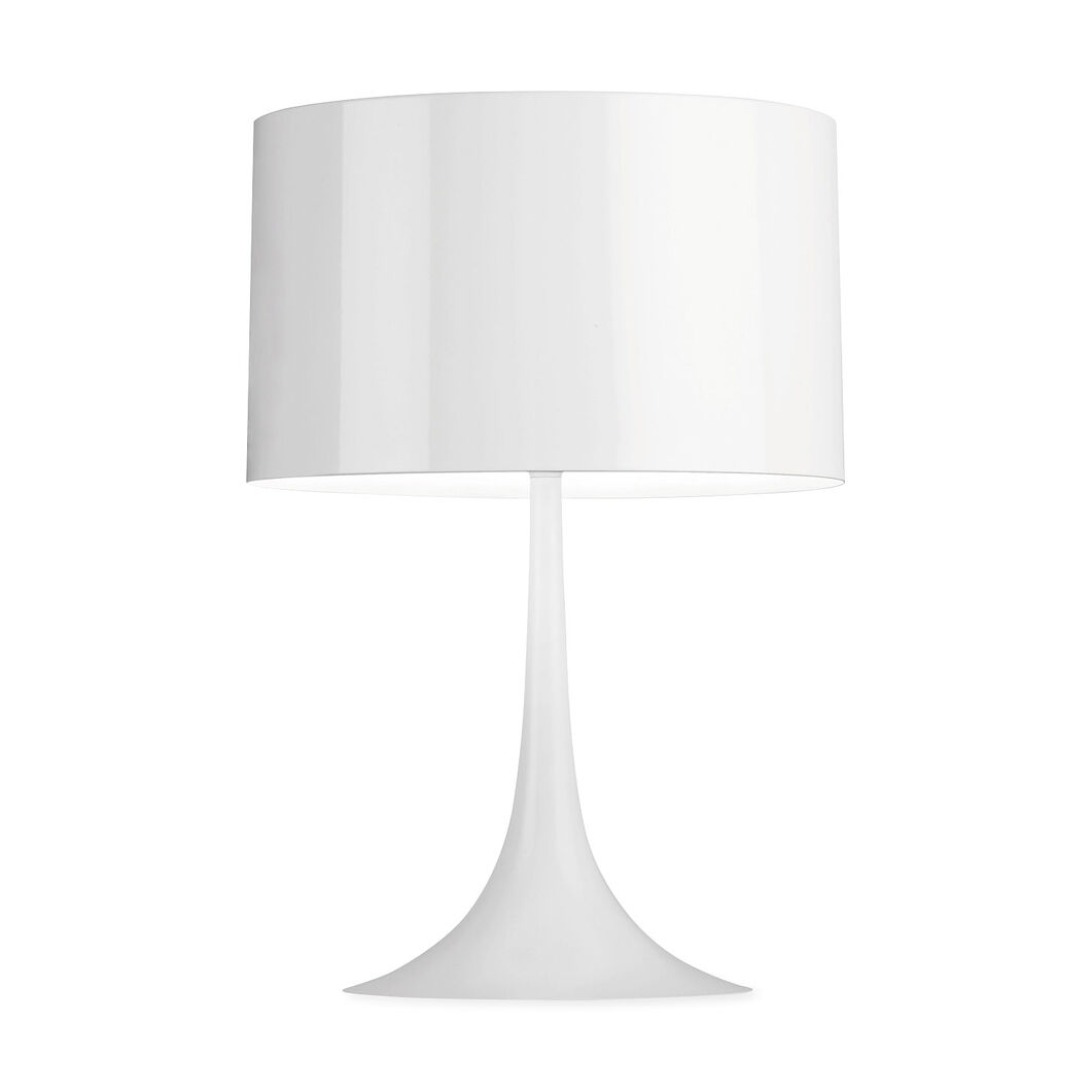 Spun Table Lamp in color White