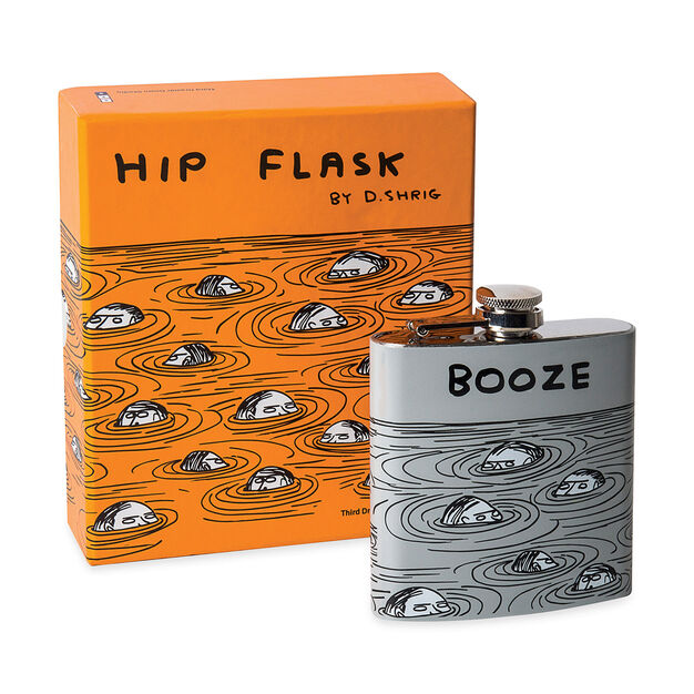 Booze Hip Flask x David Shrigley in color