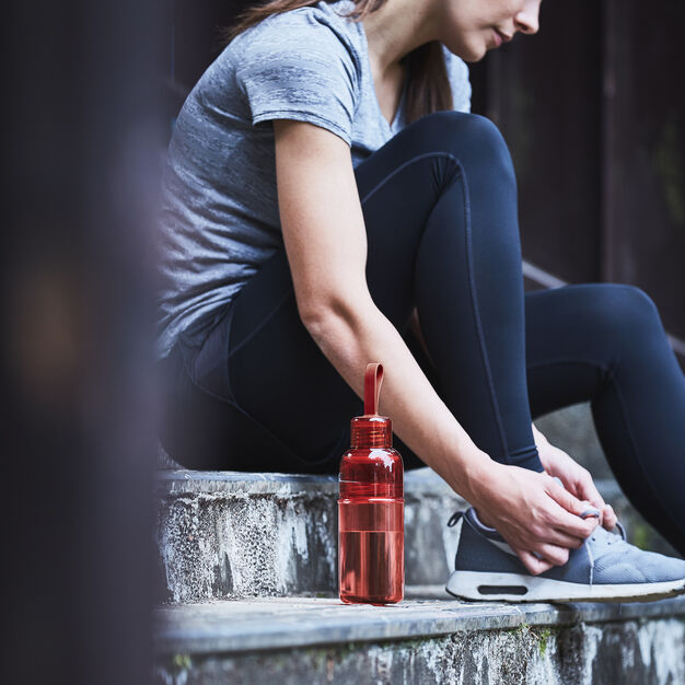 Kinto Workout Water Bottle in color Red