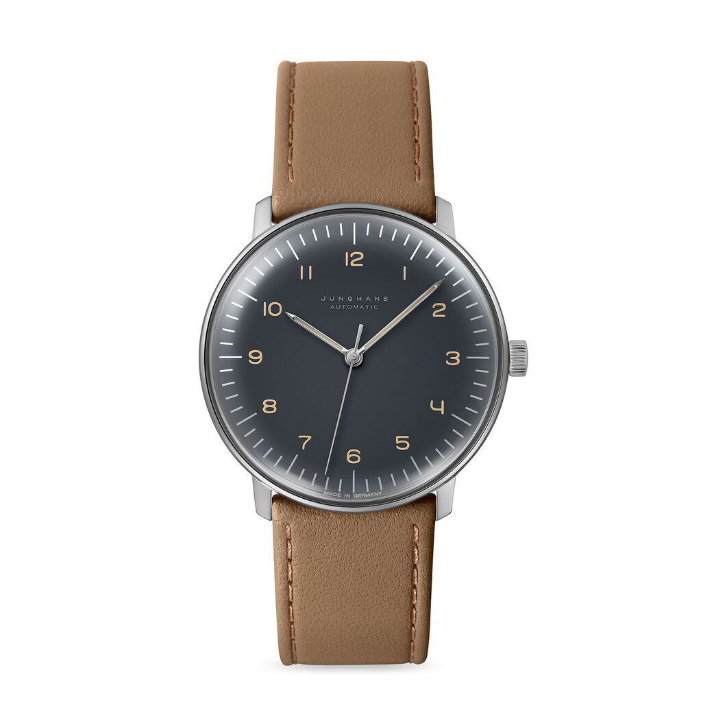 Automatic Max Bill Watch- Taupe in color