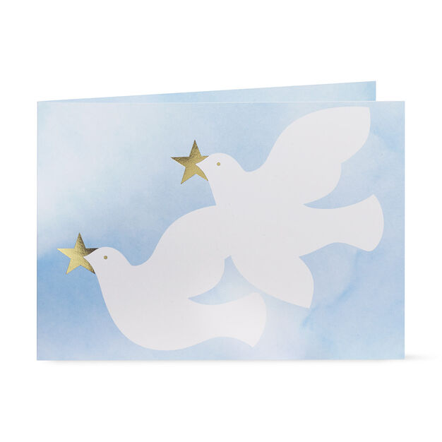 Twirling Doves Holiday Cards in color