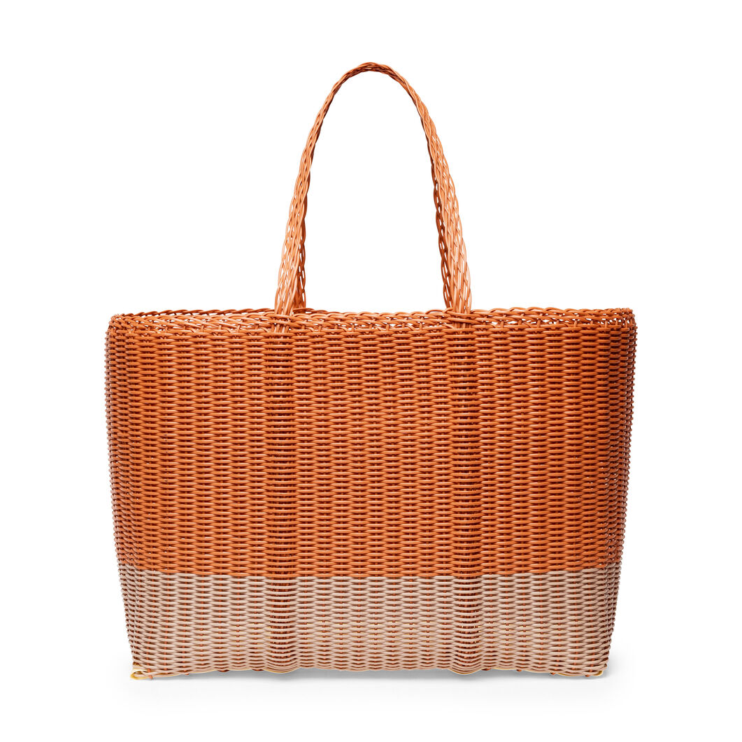 Palorosa Basket Tote Bags in color Terracotta