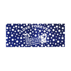 Yayoi Kusama Love Forever Tea Towel in color Blue