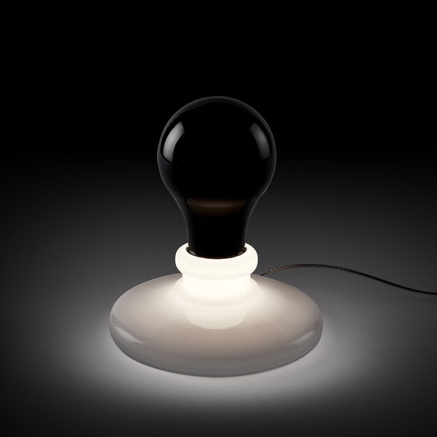 James Wines Lightbulb Table Lamp in color Black