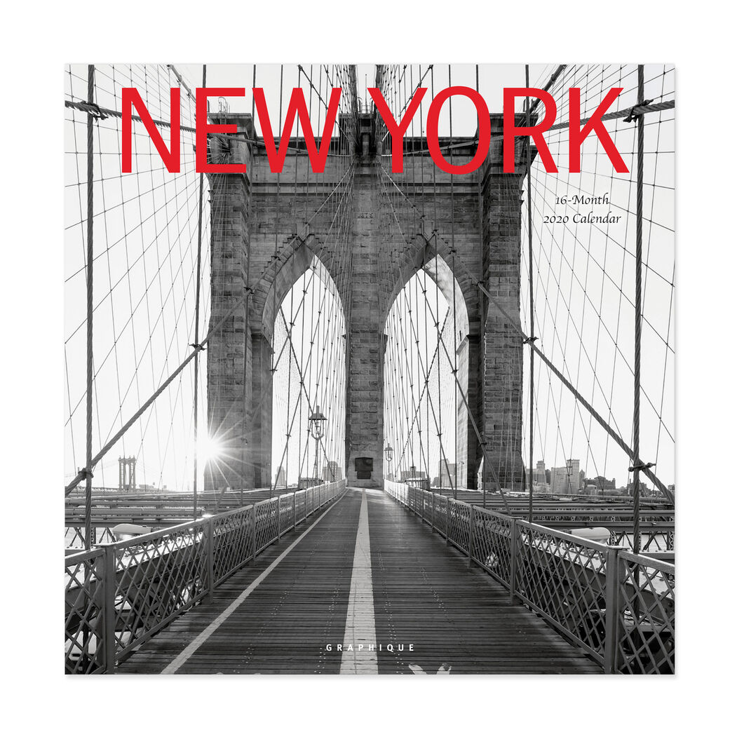 2020 New York Wall Calendar in color