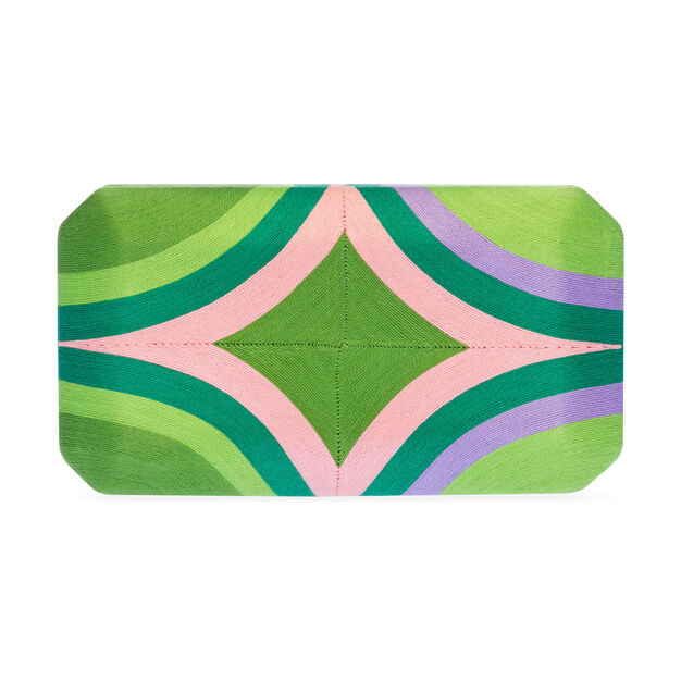 Cheska Clutch in color Green