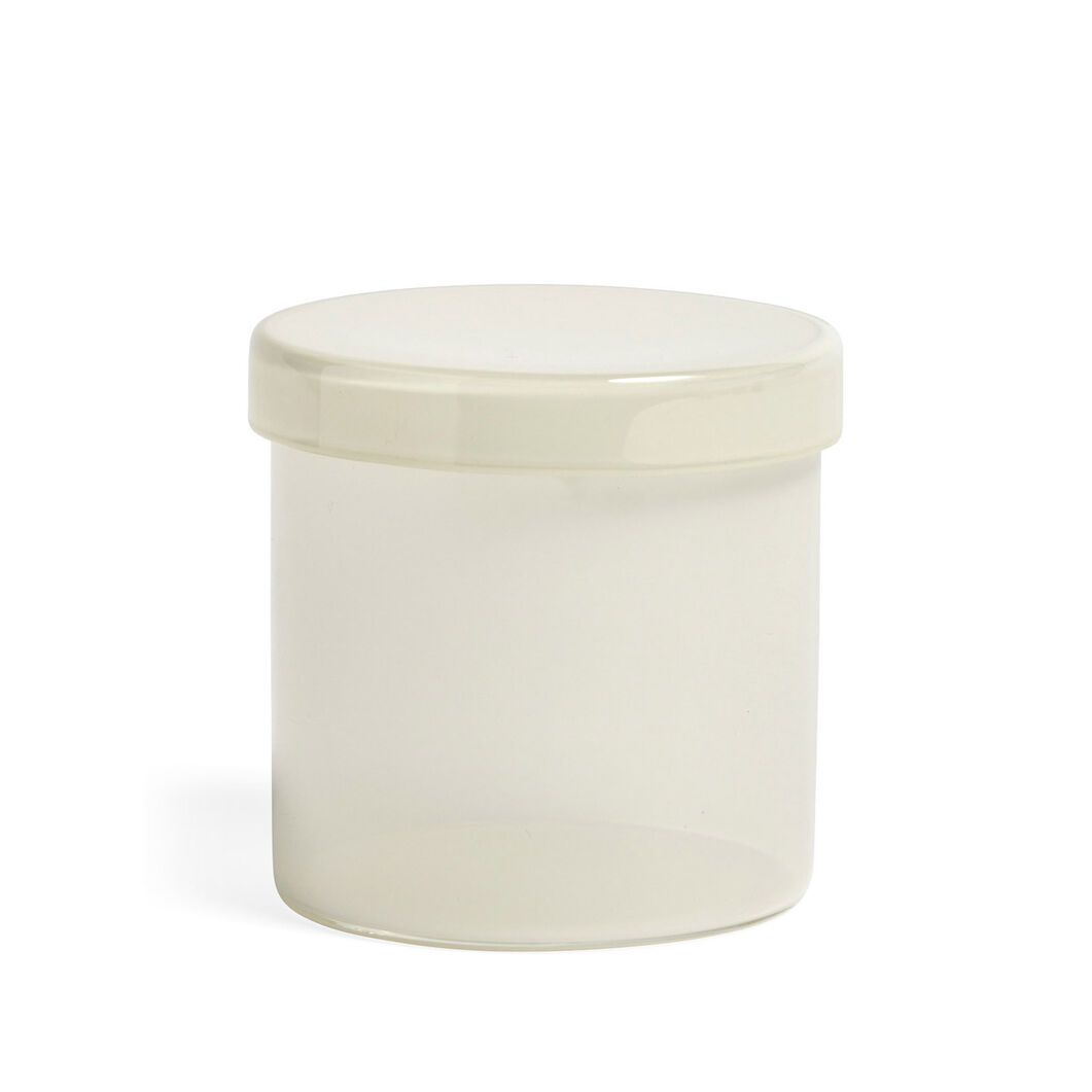 HAY Large Glass Containers in color White