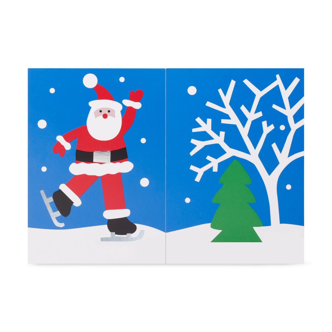 Skating Santa Holiday Cards - Set of 8 in color
