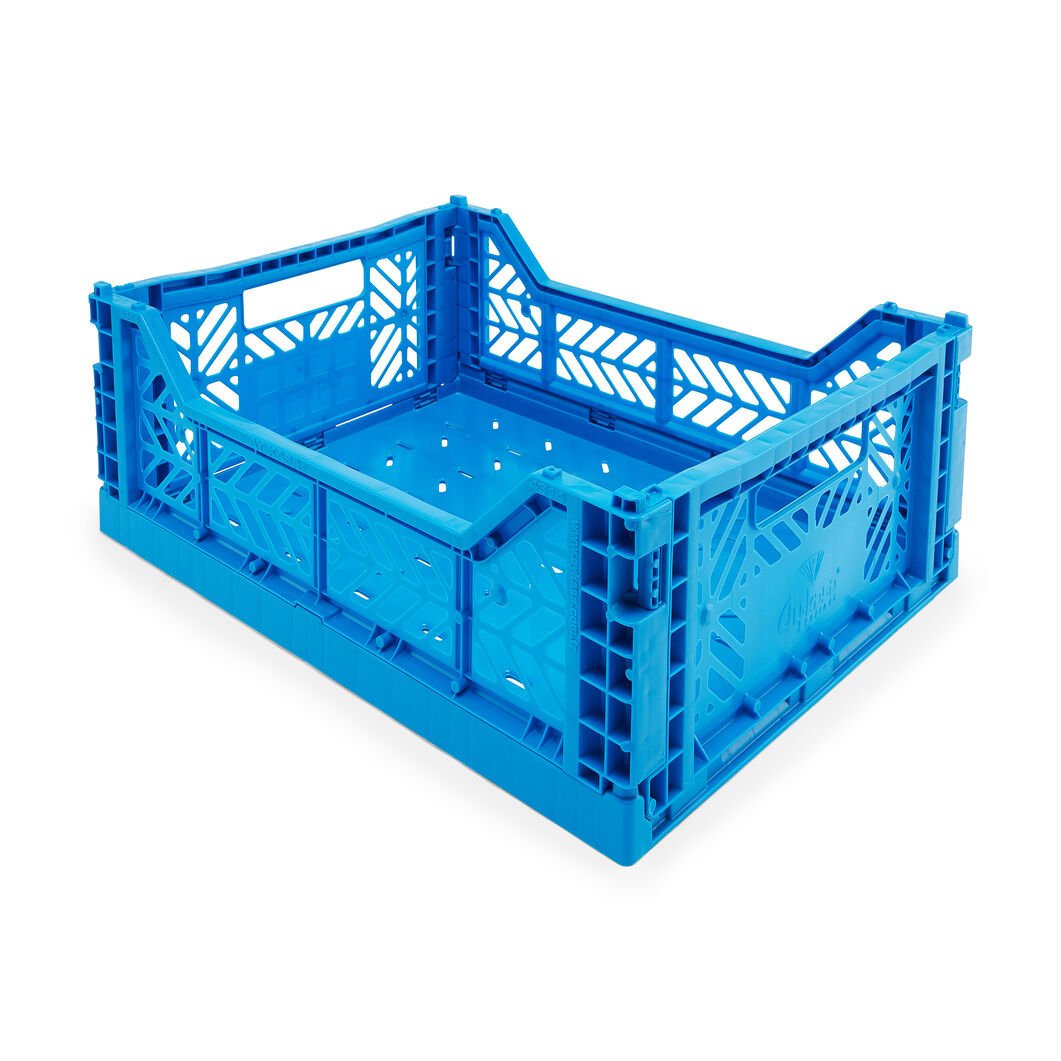 HAY Collapsible Storage Bins in color Blue