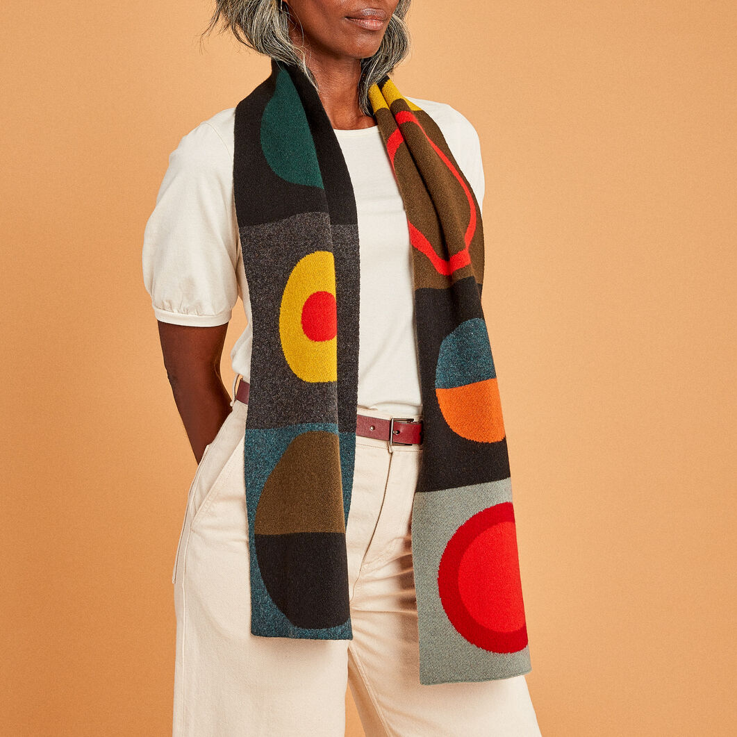Wool Circle Scarf in color
