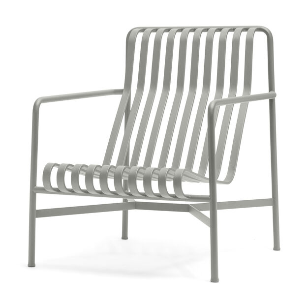 HAY Palissade Outdoor High Lounge Chair in color Sky Grey