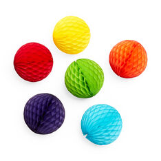 Honeycomb Balls Ornament Set in color