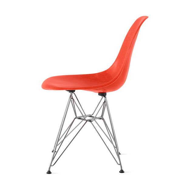 Eames® Molded Fiberglass Side Chair from Herman Miller© in color Red