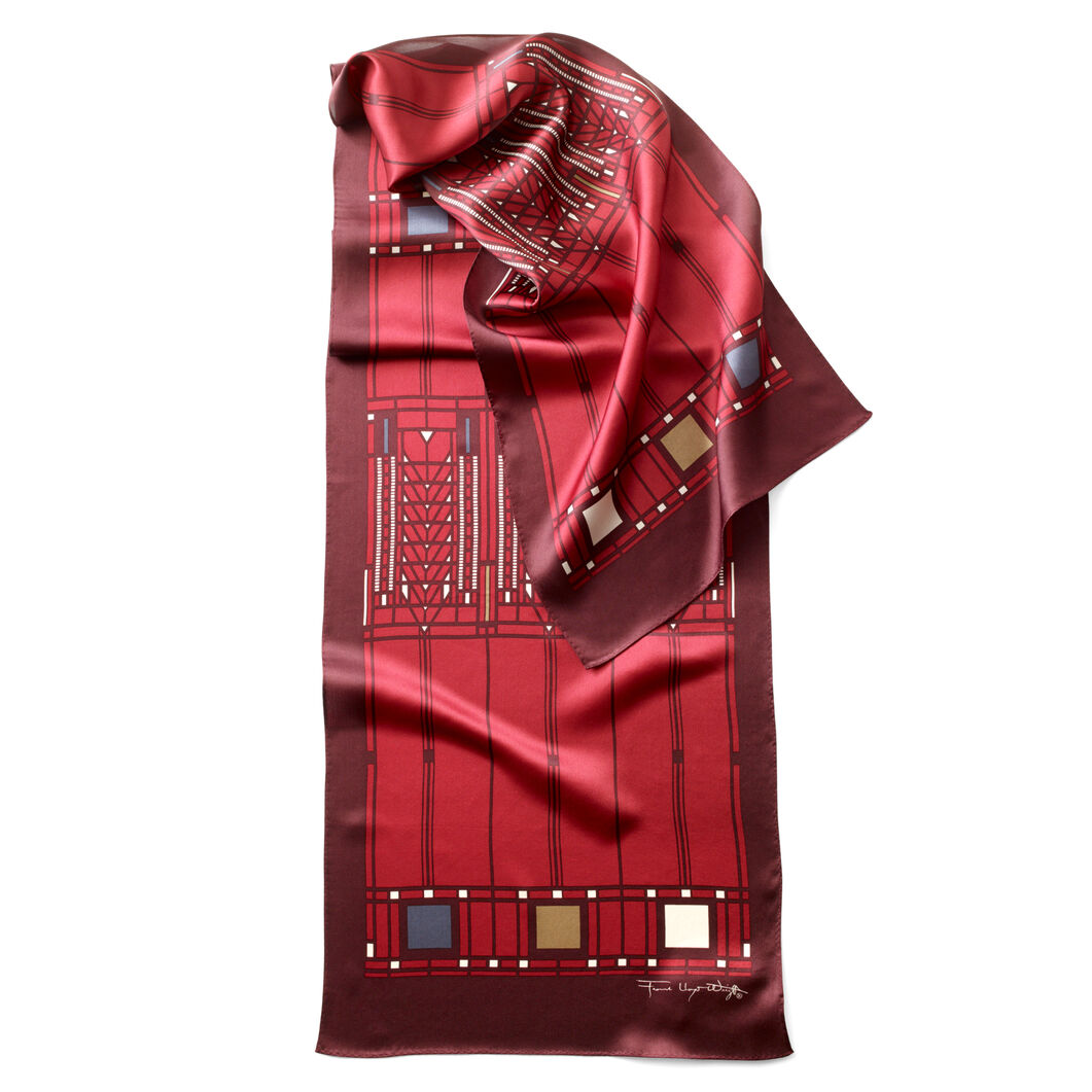 Tree of Life Scarf Red in color Red