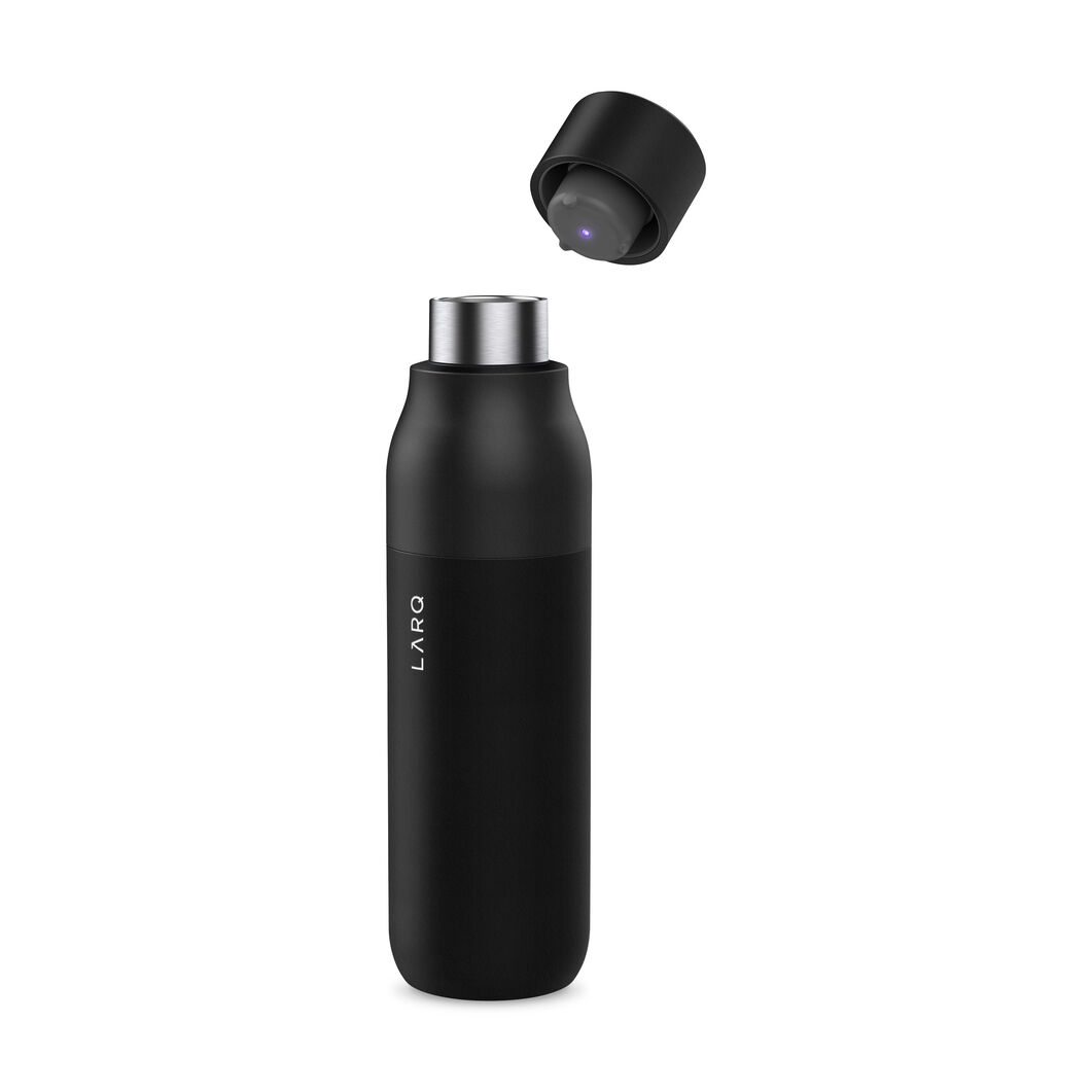LARQ Self-Cleaning UV Water Bottle in color Black