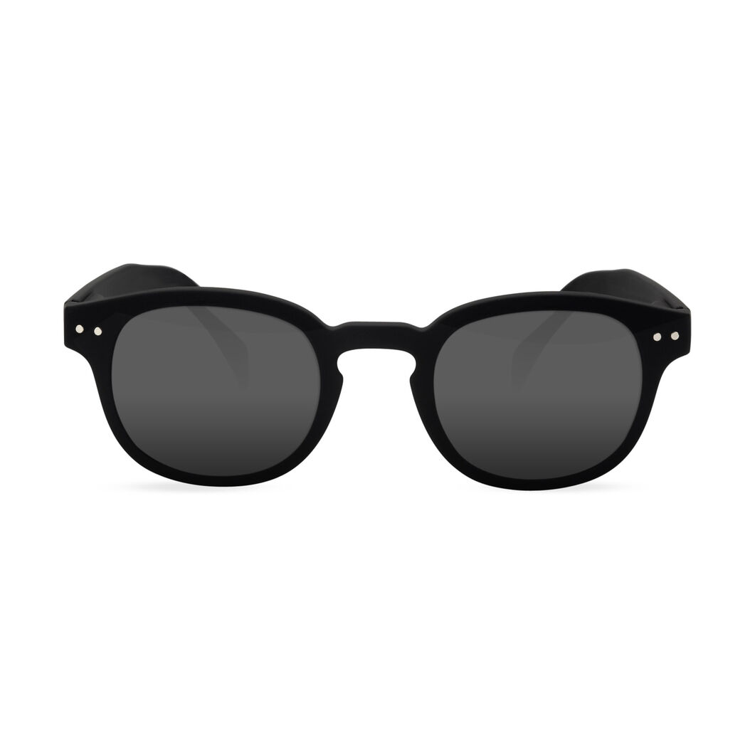 IZIPIZI Rounded-Edge Reading Sunglasses #C in color Black