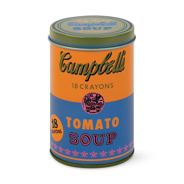 Andy Warhol Soup Can Crayons in color