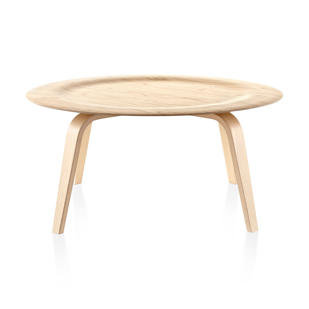 Eames Molded Plywood Coffee Table, Wood Base in color