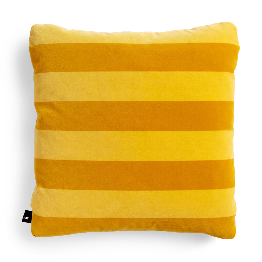 HAY Soft Stripe Cushion in color Yellow