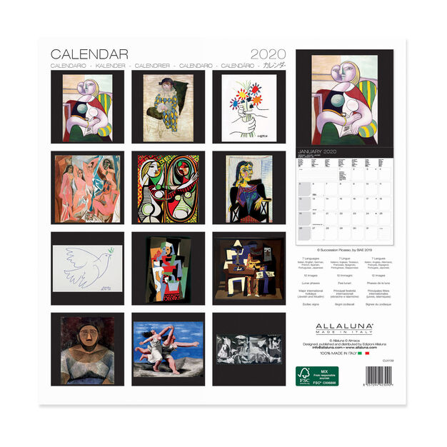 2020 Picasso Wall Calendar in color