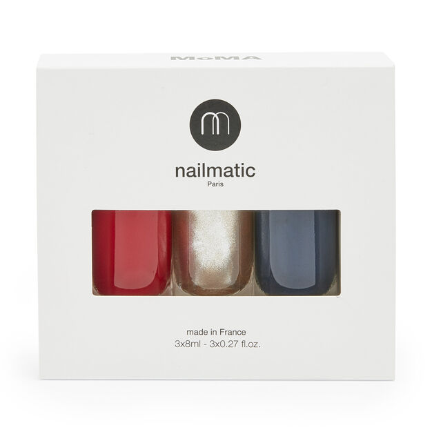 Nailmatic Nail Polish Set in color Red/Gold/Blue