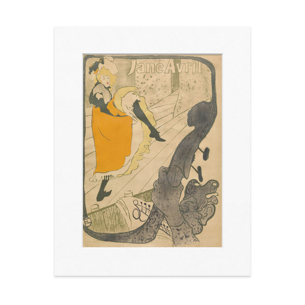 Toulouse-Lautrec: Jane Avril 14 x 11 in color