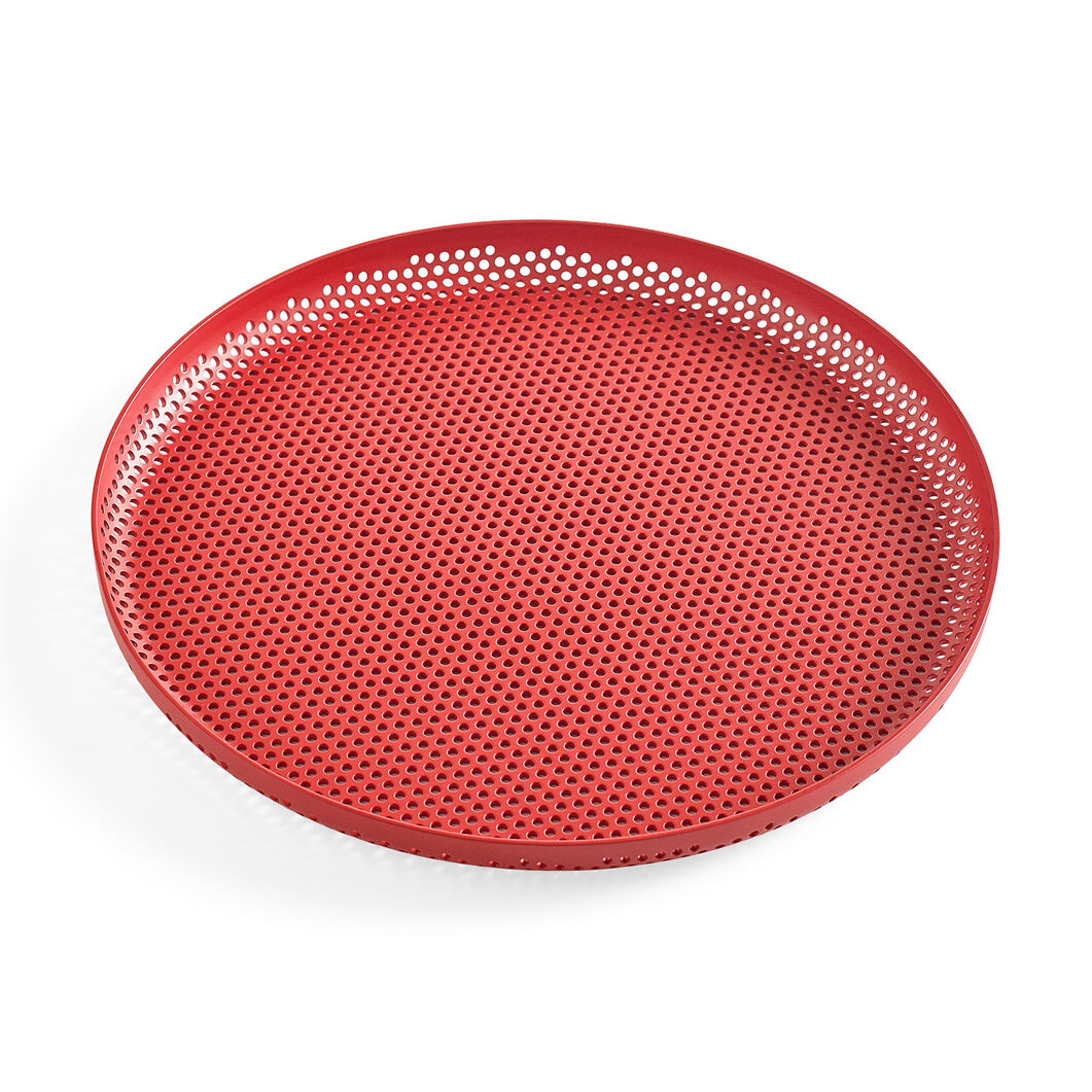 HAY Perforated Tray Medium in color Red