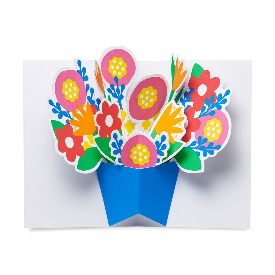 Bountiful Bouquet Pop-Up Note Cards - Set of 6 in color
