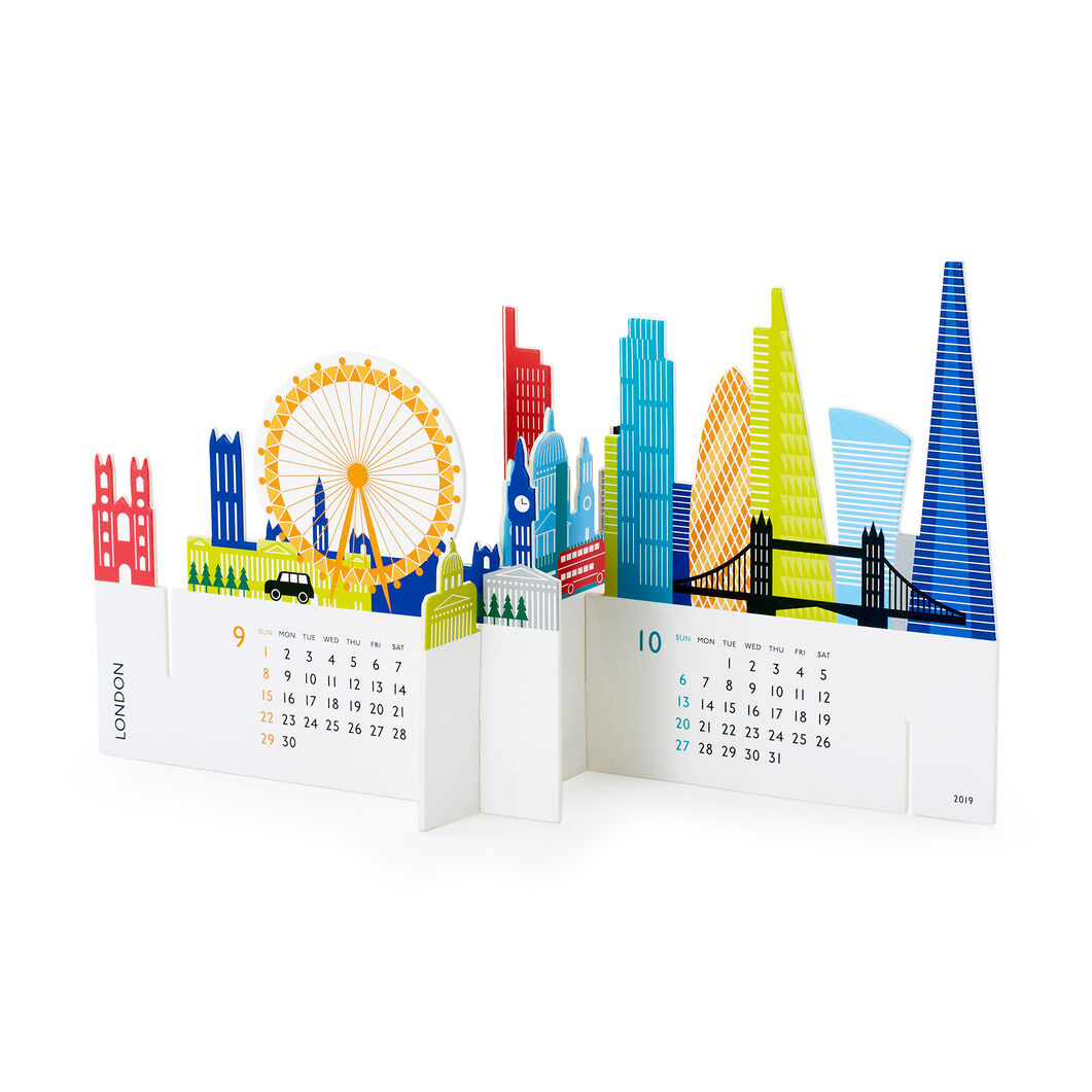 2019 3D City Calendar in color