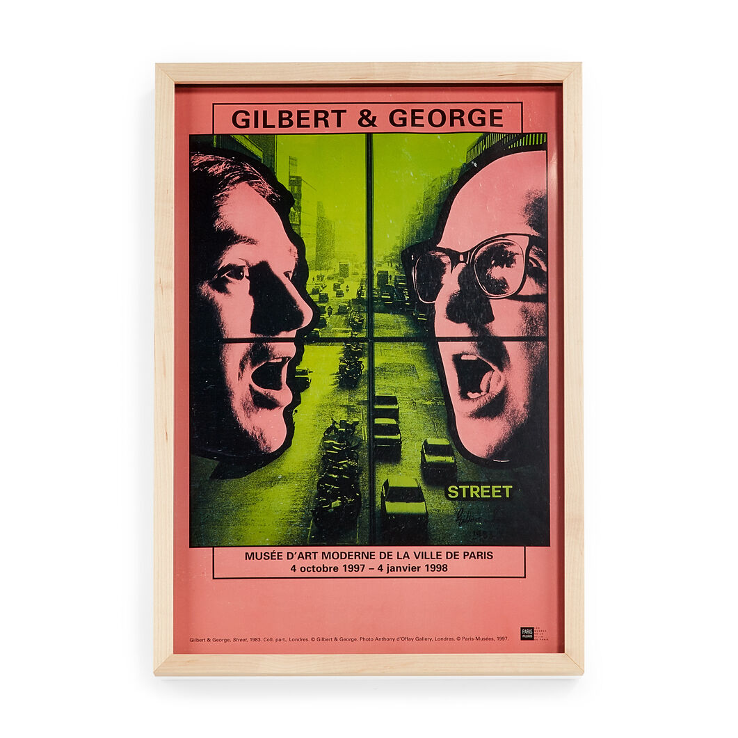 Gilbert & George:  Musée d'Art Moderne Framed Poster in color