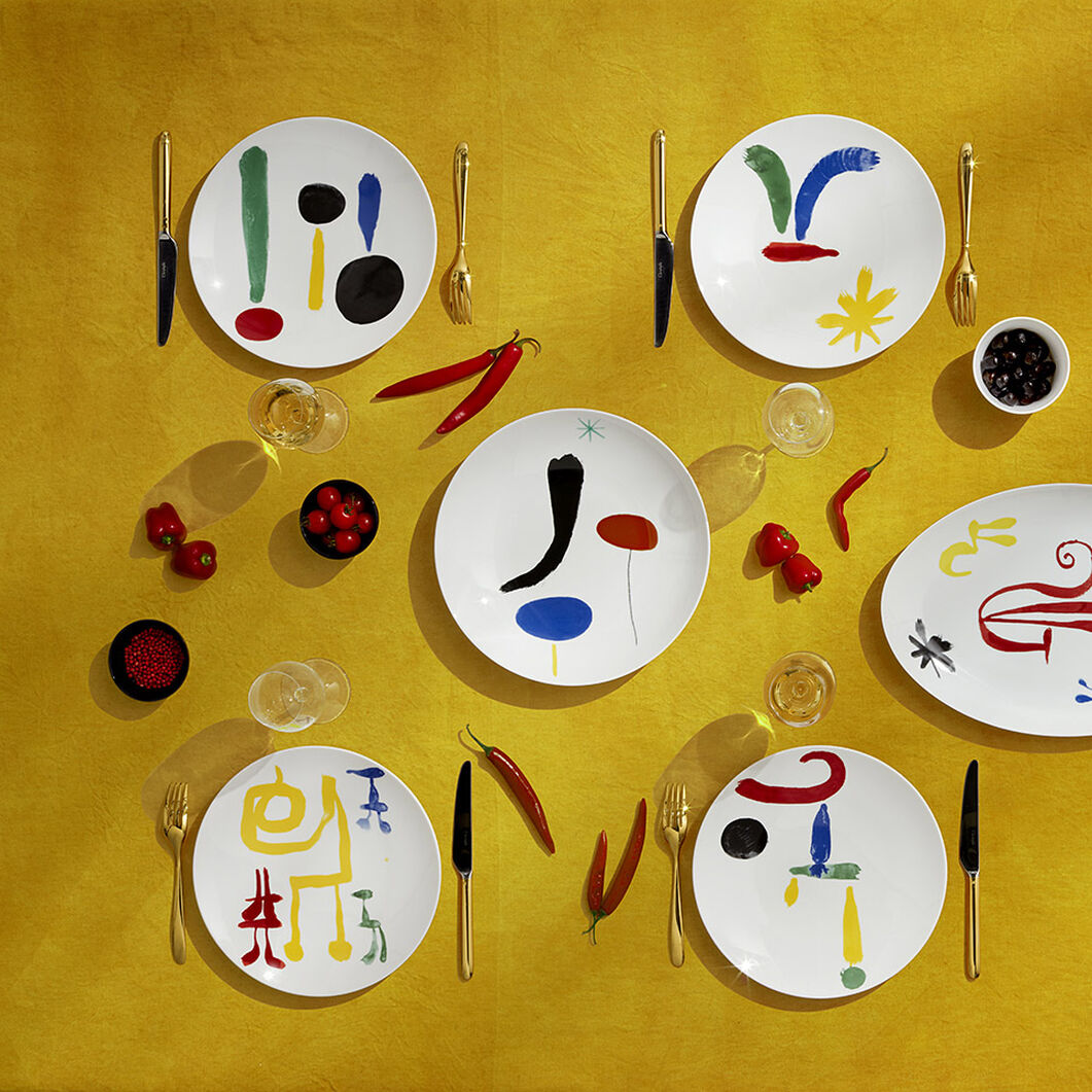 Bernardaud Joan Miró 100-Piece Porcelain Dinnerware Set in color