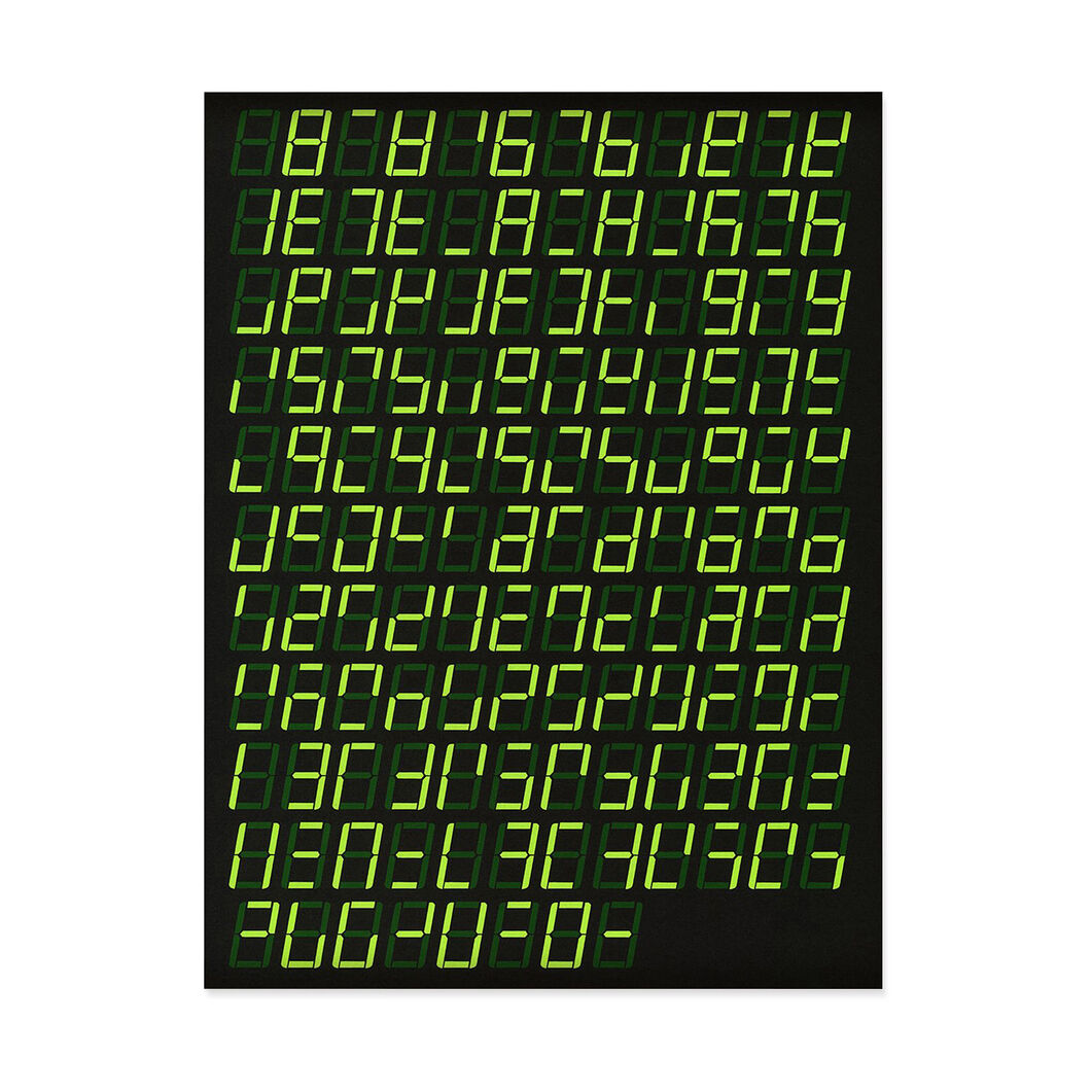 Karl LaRocca: 7 Segment Display Poster in color