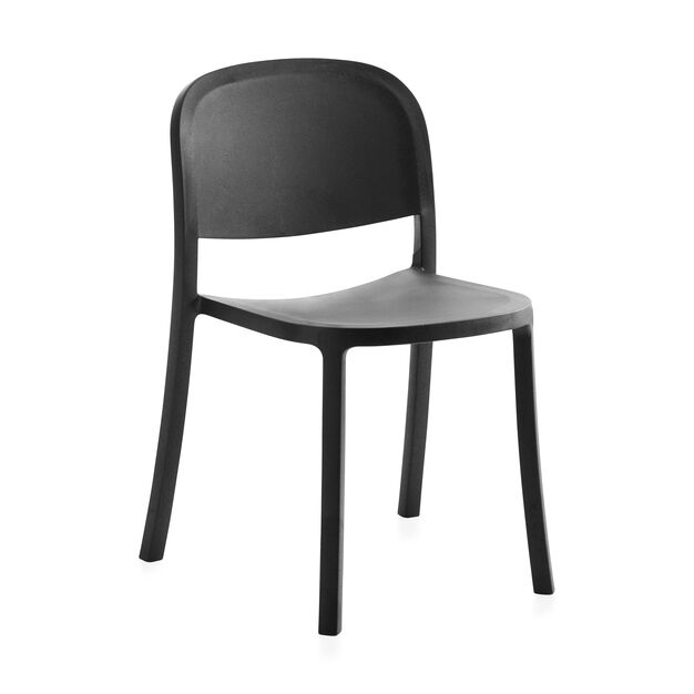 Emeco 1 Inch Reclaimed Stacking Chair in color Dark Grey
