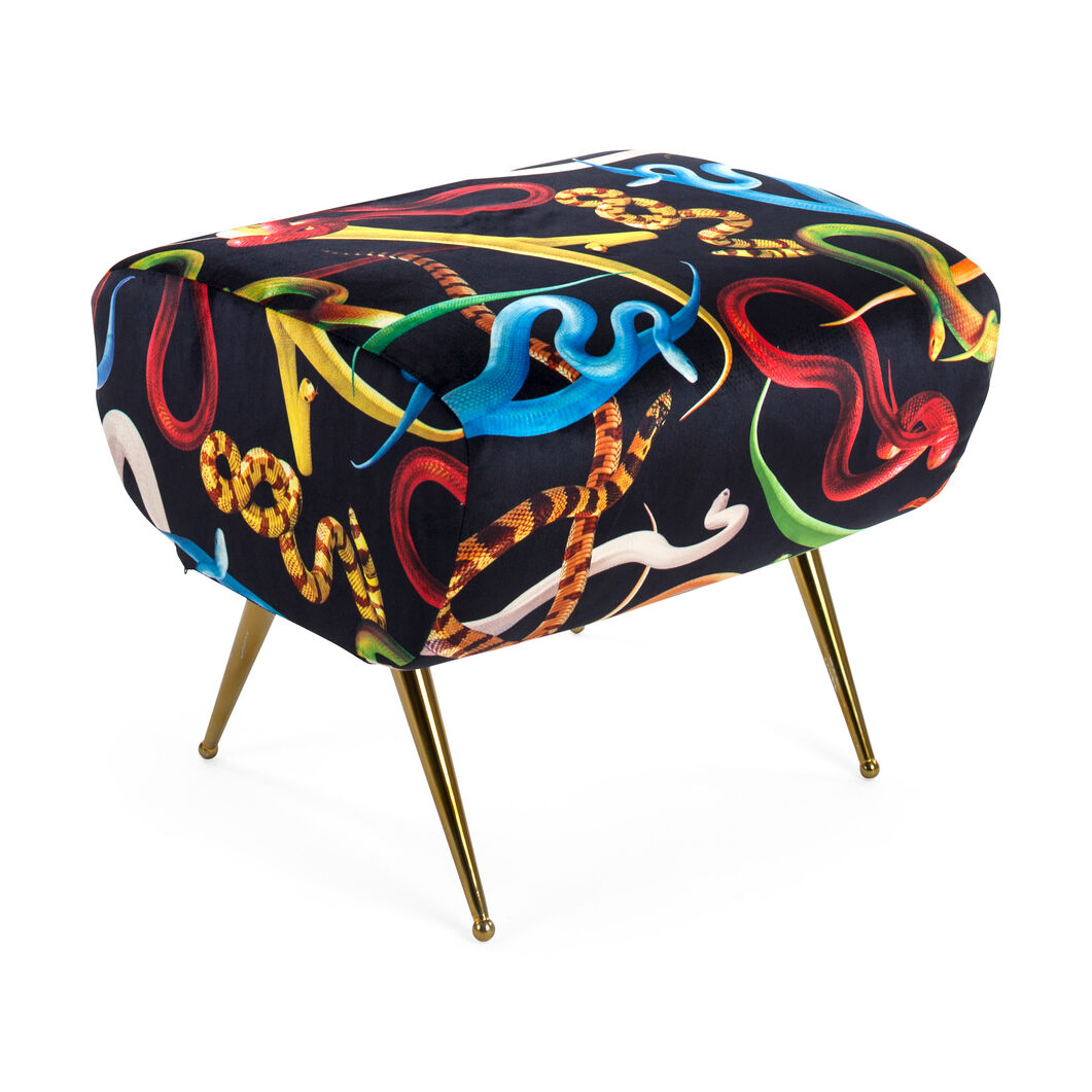 Seletti Wears Toiletpaper: Snakes Pouf in color