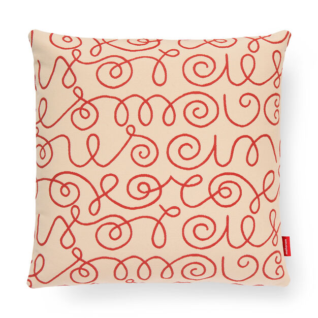 Names Pillow - Crimson in color