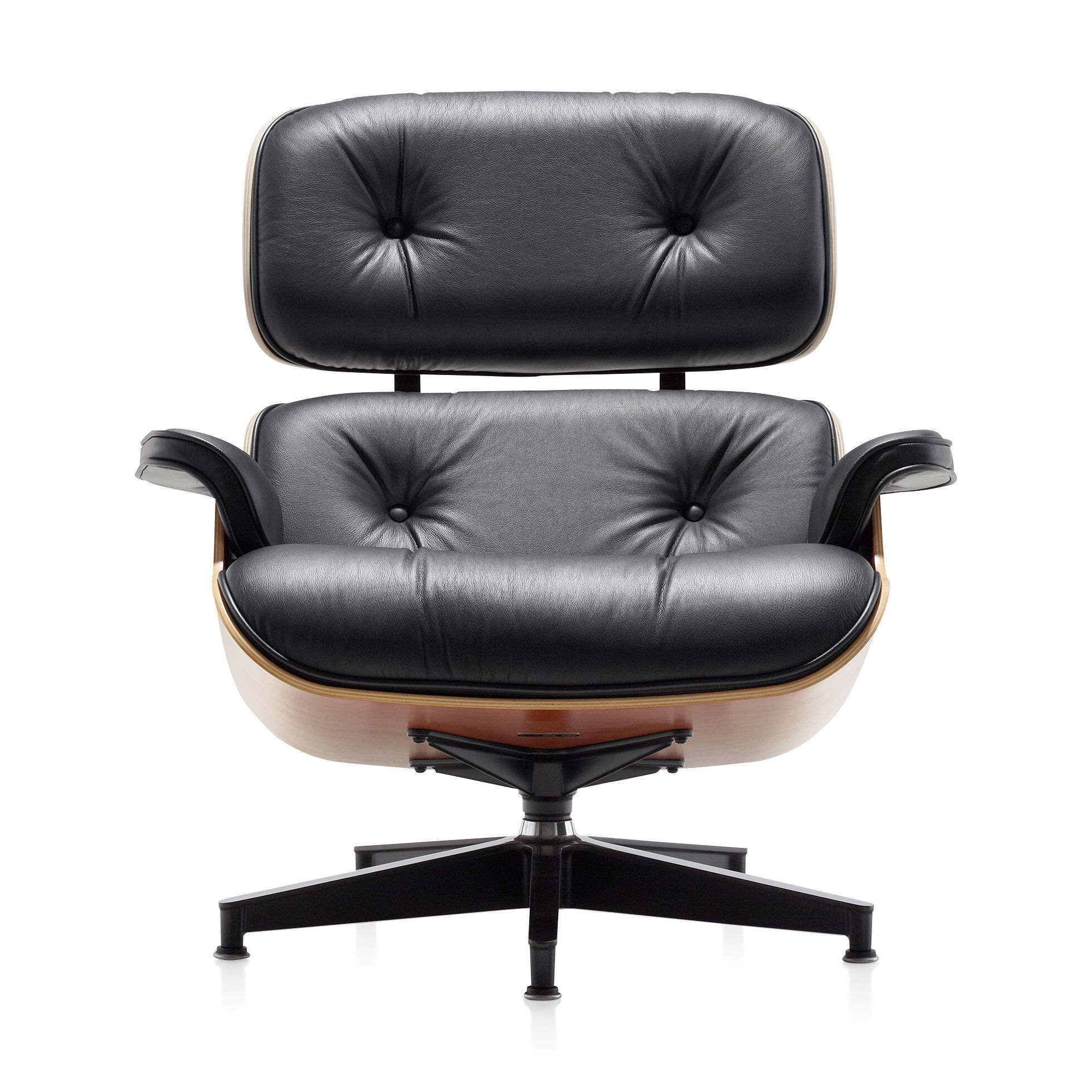 Etonnant Eames Lounge Chair With Ottoman In Color Black/Cherry