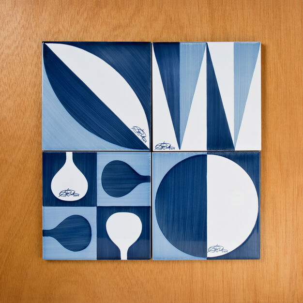 Gio Ponti Ceramic Tiles in color Blue