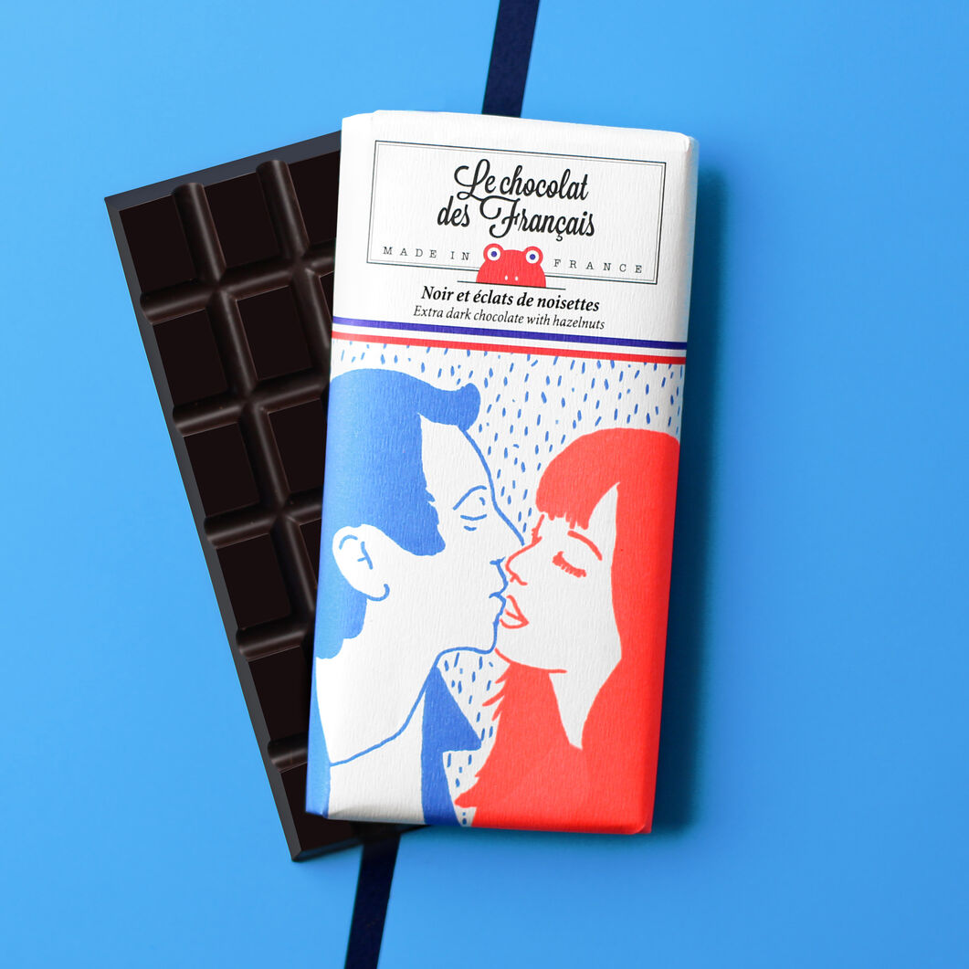 Le chocolat des Français Chocolate Bar - Baiser in color