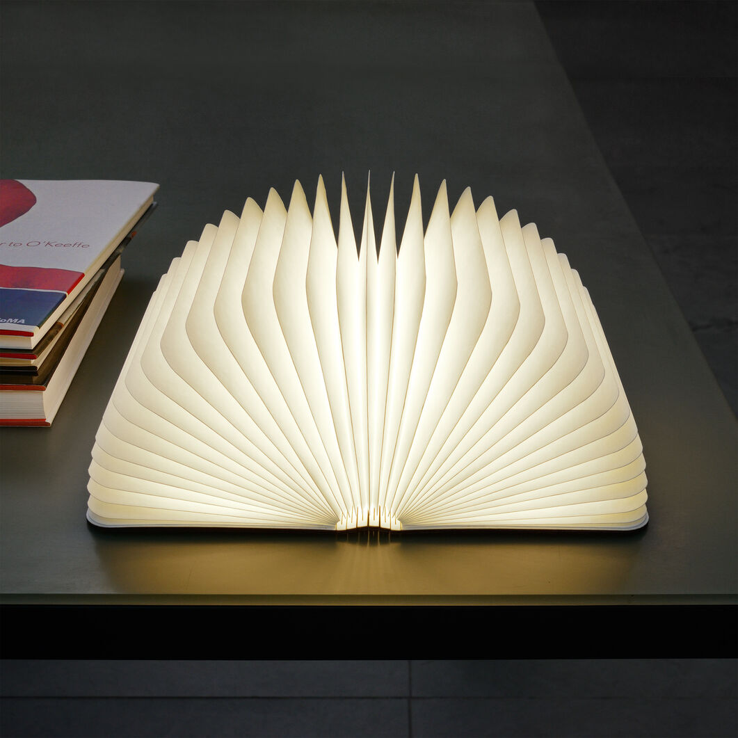 Lumio Book Lamp  Walnut in color Walnut